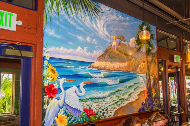 Art-Mural-Painting-Kevin-Anderson-Swamis-Cafe-Point-Loma-SanDiego